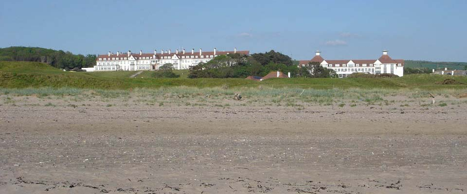 Turnberry Hotel from the beach image