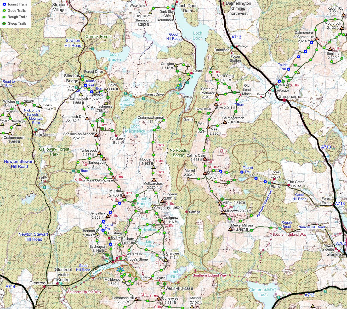 The Merrick Walk By Ayrshire - Map your walking route