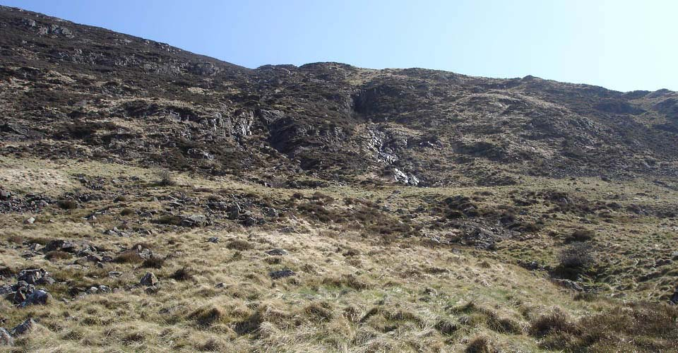 Blackcraig Hill west face climb image