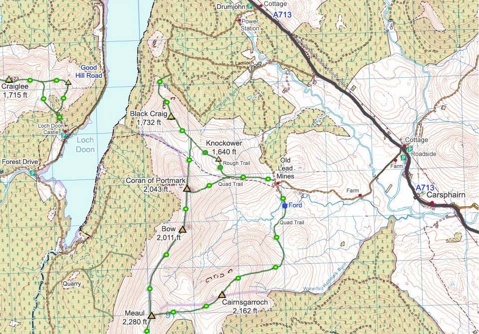 North Rhinns of Kells Map image