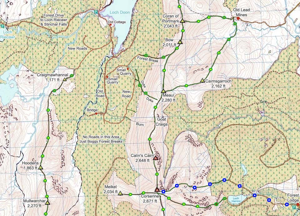Corserine Map from Loch Doon