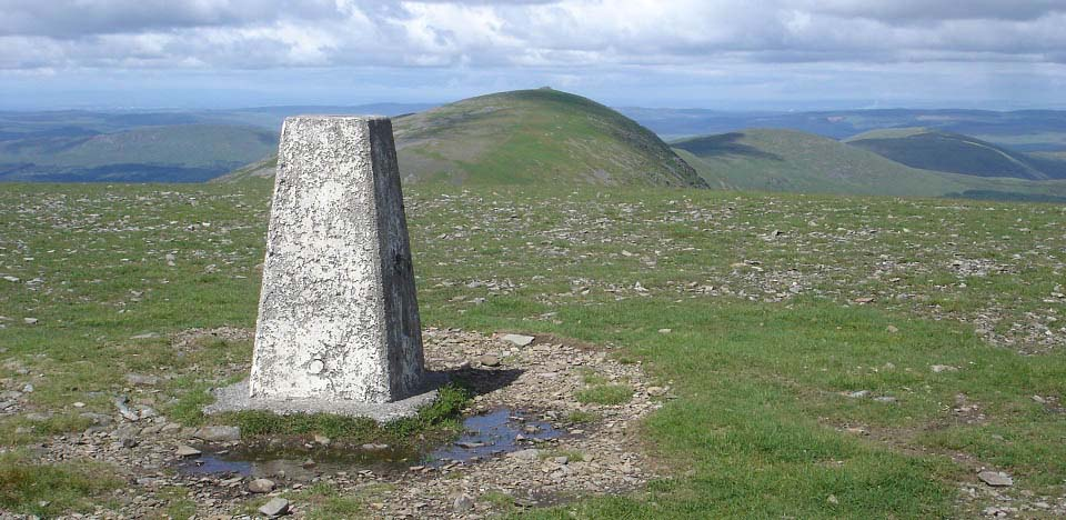 Corserine trig point view to Carllin's Cairn