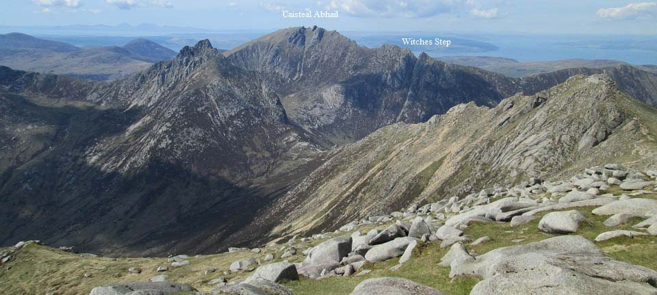 Goat Fell route to Caisteal Abhail image