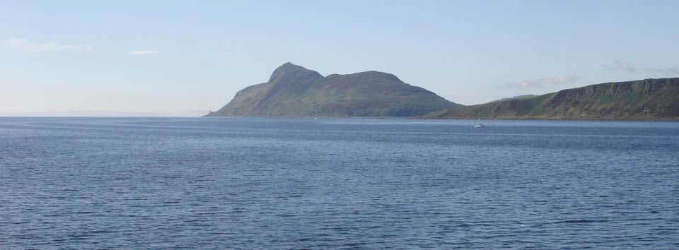 Holy Isle from the Brodick Ferry image