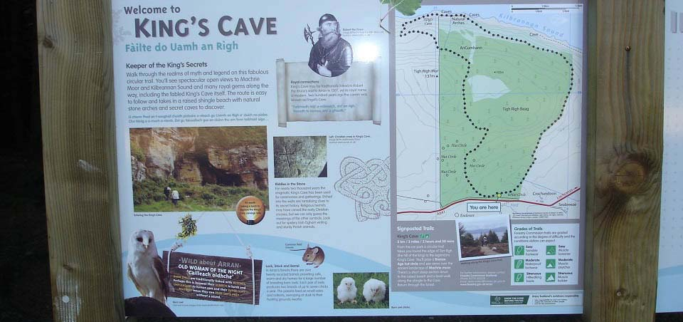Kings Cave Arran Notice Board image